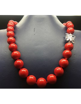 Collar perlas coral 40cm 12mm